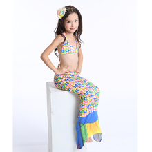 SESERIA 3 Pieces Girl's Mermaid Tails Costume Cosplay For Girls Halloween Mermaid Costume Cosplay Size M L XL XXL XXXL
