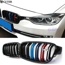 F30 F35 Car Styling Racing Grills ABS Carbon fiber 3 Colors Front Bumper Grill Grille for BMW F30 316i 320i 328i 335i 11-14(China)