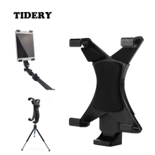 Tablet Stand Holder On Tripod Monopod Selfie Stick Universal For Tablet Samsung Ipad Lenovo 7-10 Inches Plastic Mount TIDERY(China)