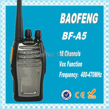 DHL freeshipping+2 pcs 2014 new Cheap Walkie Talkie BF-A5 5W 16CH UHF 400-470MHz BFA5 Interphone BaoFeng A5 BF A5 Two-Way Radio