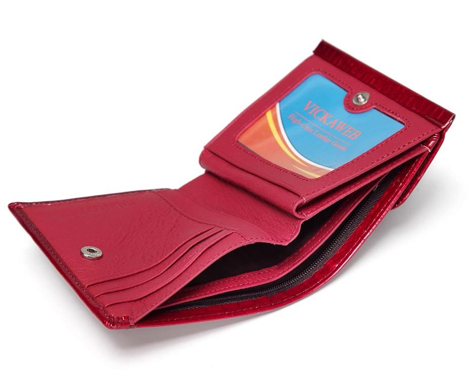 VICKAWEB Mini Wallet Women Genuine Leather Wallets Fashion Alligator Hasp Short Wallet Female Small Woman Wallets And Purses-AE209-014