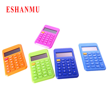 2016 hot selling 8 New Student Mini Electronic Calculator Candy Color Calculating Office Supplies Gift 9*6mm Size(China)