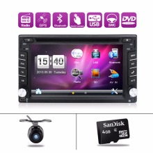 Free shipping 2DIN Car DVD / GPS/ CD / MP3 / mp4 / usb / sd / player Bluetooth Handsfree Rearview after Touch screen hd system(China)