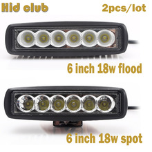 2pcs/lot 6 Inch 18W Led Light Bar For Offroad 4x4 Driving Tractor Truck 6000K 12V 24V Indicators Motorcycle Car Led Work Light(China)