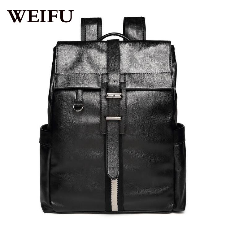 Fashion mens backpack leisure backpack large capacity PU leather bag <br><br>Aliexpress
