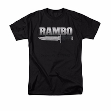 Rambo Movie First Blood Knife Logo Licensed Adult Shirt S-3XL men's top tees(China)