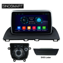 SINOSMART 8 Inch 1.6GHz Quad Core Android 4.4 Car DVD GPS Navigation for Mazda 3 2014 Axela No Canbus