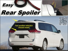 Root / Rear Spoiler For TOYOTA Sienna Trunk Splitter / Ducatail Deflector For TG Fans Easy Tuning / Free Modeling