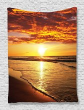 Beach Tapestry Hawaiian Decor by Ambesonne Bedroom Living Girls Boys Room Dorm Accessories Wall Hanging Tapestry(China)