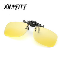 XINFEITE 2017 Brand Vintage Fashion Polarized Clip On Sunglasses For Men Oculos Eyewear Male Night Vision Driving Sun Glasses(China)