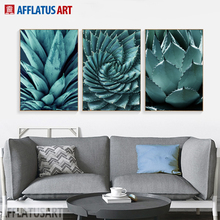 AFFLATUS Chic Aloe Canvas Painting Post-modern Art Style Wall Decor Painting For Living Room Bedroom Impressionist Picture Decor