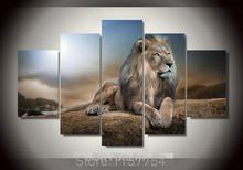 5 piece canvas art set puma Printed Animals Lion Group lion Painting children's room decor print poster picture canvas not frame