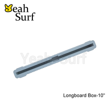 "Fin Box White and Black Plastic 10"" Surfboard Fin Box Surf Fin Box"