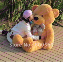 Fancytrader 4 Colors Available 63'' Giant Stuffed Teddy Bear Free Shipping Hot Christmas Gift Huge JUMBO FT90059