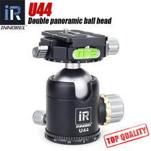 INNOREL U44 44mm Double panoramic ball head heavy duty 720 degree tripod head for camera compatible with Arca Swiss 20kg load(China)