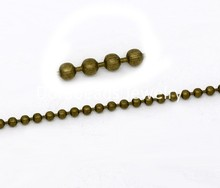 DoreenBeads Bronze Tone Smooth Ball Chains Findings 2.4mm 10M (B10830), yiwu