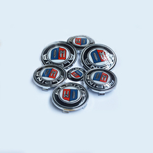 7pcs/lot For ALPINA Front Bonnet Emblem Car Steering Wheel Cap Wheel Hub Cap Head Hood Logo Badge/Trunk Emblem Cover(China)