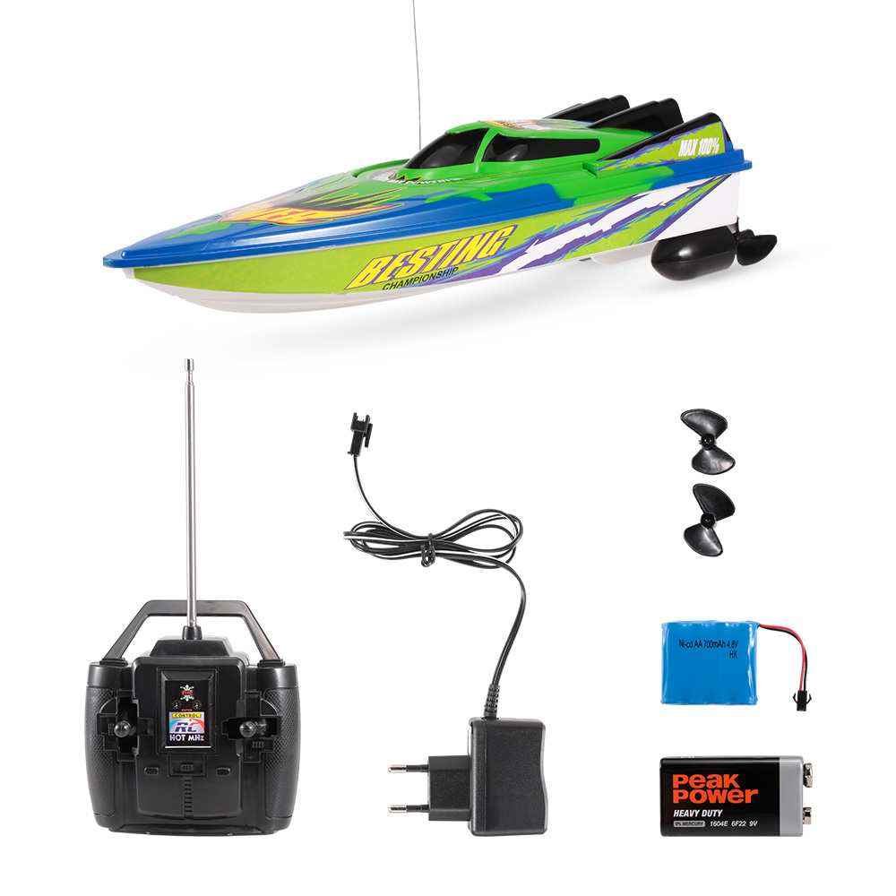 Radio Control Racing Boat RTR Electric Speedboat Ship RC Boat Model RC Toys with 4.8V 700mAh Rechargeable Battery (7)