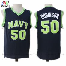 Dwayne Admiral David Robinson Jerseys #50 Naval Academy NAVY USNA College Throwback Basketball Jerseys 2 Color(China)