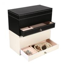 caixa relogio Watch Box High Grade 4 Grid Slot Leather Watch Storage Box Case With Drawer Jewelry Organizer Container Box Holder