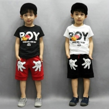 boys summer clothes set kids clothes boys clothes children's short-sleeved T-shirt+ Mickey Shorts 2PS set