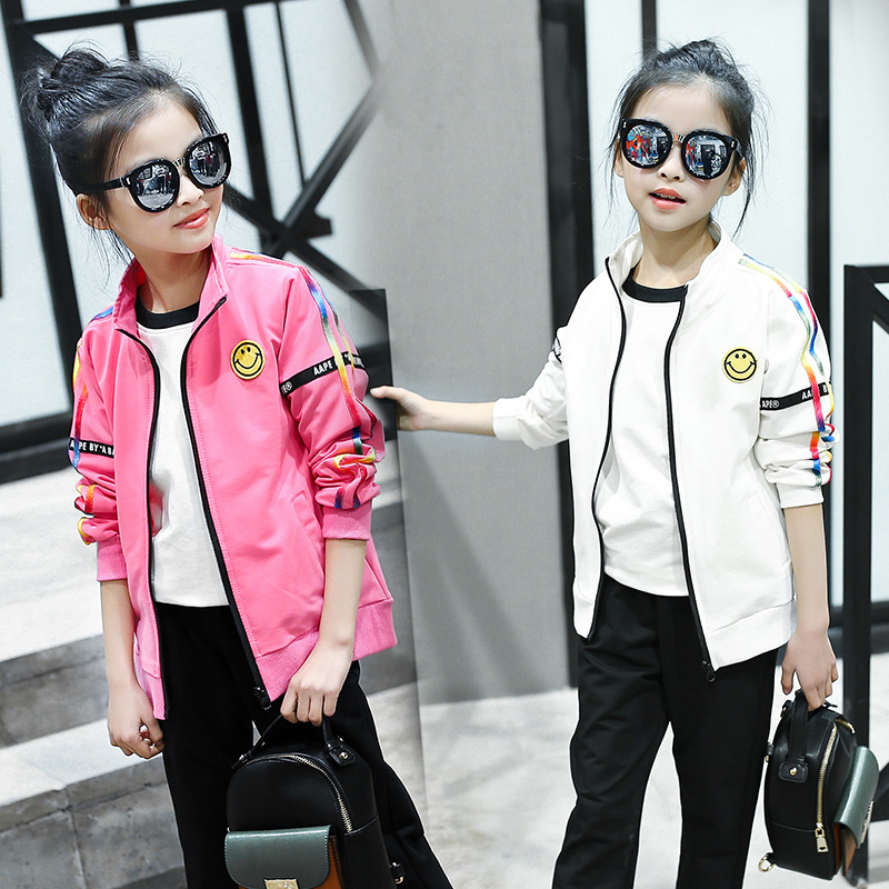 Spring Girls Clothing Sets Girls Sports Suit 2pcs/set Children Casual outfit Tracksuit Kids Sets 120-160cm<br>