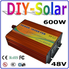 solar system 600w 48v inverter, factory wholesale pure sine wave off grid inverter 600w, UL TUV CE RoHS FC Approved