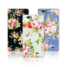 "Luxury Floral Painted Soft TPU Phone Cases ZTE Blade L4 Pro A475 Cover Art printed Flower Case funda ZTE A475 A 475 5""+Free Gift"