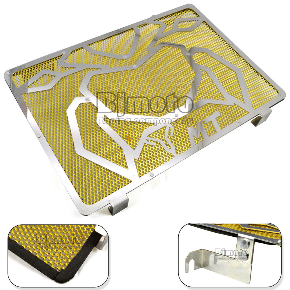 Free Shipping Motorcycle Engine Radiator Bezel Grille Grill Guard Cover Protector Golden For Yamaha MT09 Stainless Steel<br><br>Aliexpress