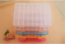 Available High Quality Cross Stitch Embroidery Tool Storge Box 24 Plastic Grids--1 Lot=3 Sets