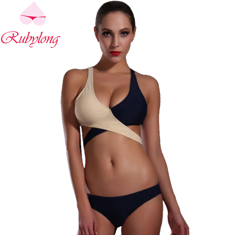 Rubylong 2017 Sexy Cross Bikini Swimwear Women Ladies Brazilian Halter Push Up Swimsuit Bathing Suit Bikini Set Biquini<br><br>Aliexpress