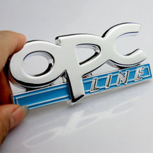 Car-styling 3D Metal OPC LINE Emblem Car Side Fender Tail Badge Sticker for OPEL Zafira b Corsa d Insignia Mokka Regal car cover(China)