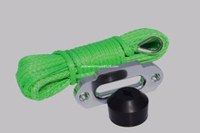 Green 6mm*15m Boat Winch Rope add Hawse Fairlead and Winch Hook Stop,ATV Winch Cable,Synthetic Rope(China)