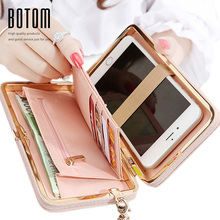 Purse wallet female famous brand card holders cellphone pocket gifts for women money bag clutch with wrist strap good quality