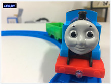 LEO RC mini Thomas and friends railway battery operated train with light and music(China)