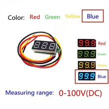 Blue Second line precision dc digital voltmeter head LED digital voltmeter DC4.5V-30V 0.28 Inch Mini Digital Voltmeter