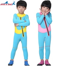 Kids 2.5mm Neoprene Diving Wetsuit Children Swimming Surfing Water Sports Clothes Little Boys Girls Jumpsuit  Beach Bathing Suit