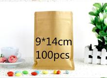 Jolly 12.9 Event Brown Doypack Zipper Kraft Paper Aluminium Foil Pouch Mailing Food Zip Lock Mylar Pack Bag(accept logo printing