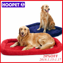 HOOPET Large Dog Bed Big Size Pet Cushion Warm Sleeping Bed Golden Retriever Cage Mat Pet House Mat L Retail And Wholesale(China)