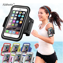 5S 5C 5G 6 6S Plus Dirt-resistant Hand Bag Running Arm Band Leather Case For iphone Mobile Phone Holder Pouch Belt GYM Alabasta(China)