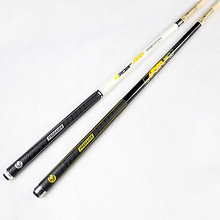 New Arrival Pool Cues Stick Billiard 11.5mm Tip 5A Maple Shaft Black/Yellow Colors Billiards Cue China