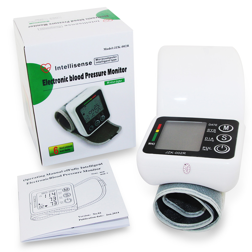 Wrist Blood Pressure Monitor Automatic Digital Meter Cuff Blood Pressure Measurement Health Household Tonometer Sphygmomanometer 10