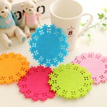 20pcs Candy-colored button mat non-slip insulation blankets felt modern coasters Drink cup glass Coasters table home decoration