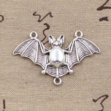 99Cents 2pcs Charms bat vampire dracula 29*47mm Antique Tibetan Silver Pendant Findings Accessories DIY Vintage Choker Necklace(China)