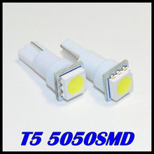 10 x Free shipping T5 led 5050smd LED t5 Bulb with Wedge Base for Dashboards led t5 5050smd 12v  White/Green/Blue/Red/Yellow