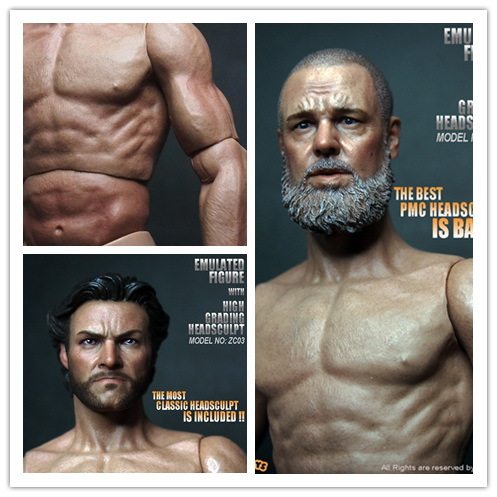 ZC toys 1/6 scale Muscular body For 12inch dolls DIY Parts , Wolverine or Russell head sculpt optional<br>