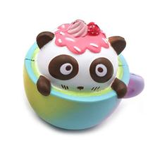 Kawaii Squishy Toys Coffee Cups Toys Panda Slow Rebound Decompression Slow Rising PU Gift Decoration Squishy Anti Stress Toys(China)