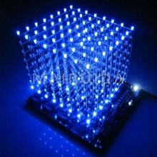 In stock! 3D8 light cube pcb board +60 s2+573+2803 3D LED cube 8*8*8 3mm Blue ray led