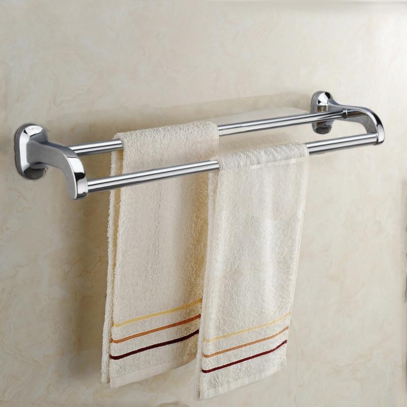 Fashion 500mm solid brass Double-deck bath towel holder Arc design Towel rack Towel bar<br><br>Aliexpress