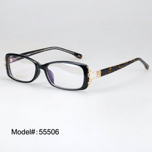 55506 plastic woman's crystal optical glasses myopia eyeglasses hyperopia eyewear prescription optical frames(China)